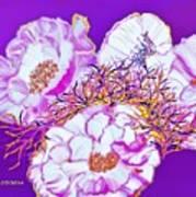 Flower Portrait Painting Poster