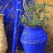 Flower Pots In Crete Poster