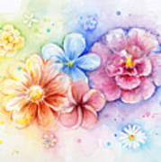 Flower Power Watercolor Poster