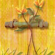 Flower Pull Poster