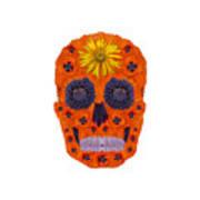 Flower Skull 1 Poster