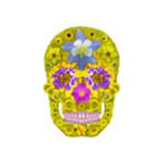 Flower Skull 3 Poster