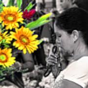 Flower Stall Poster