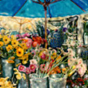 Flower Stand Poster