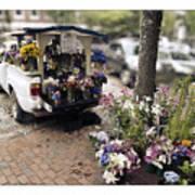 Flower Truck On Nantucket Poster