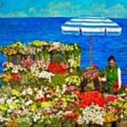 Flower Vendor In Sea Point Poster