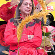 Flowered Raven Redfox Poster