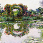 Flowering Arches, Giverny Poster