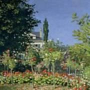 Flowering Garden At Sainte-adresse Poster