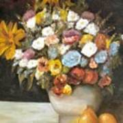 Flowers After Renoir Poster