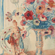 Flowers And Porcelain Poster