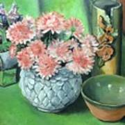 Flowers And Pottery Poster