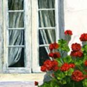 Flowers At The Window Poster