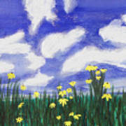 Flowers Bright Field Poster
