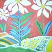 Flowers In Field Poster