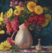 Flowers In Vase Poster