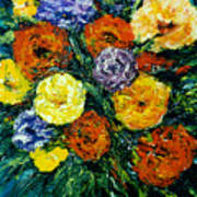 Flowers Painting #191 Poster