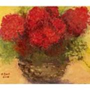 Flowers Red Poster