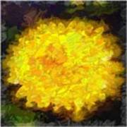 Flowery Acceptance In Abstract Poster