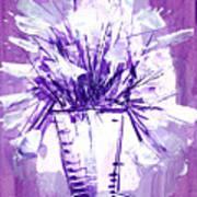 Flowery Purple II Poster