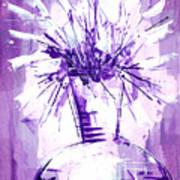 Flowery Purple IIi Poster