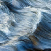 Flowing River Water Poster