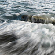 Flowing Sea Waves Poster