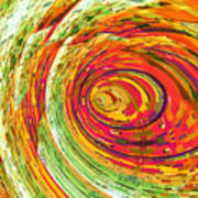 Fluorescent Wormhole Poster