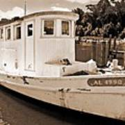 Fly Creek Work Boat Poster