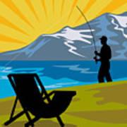 Fly Fishing Poster by Aloysius Patrimonio