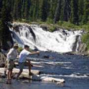 Fly Fishing The Lewis River Poster