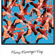 Flying Flamingos Poster