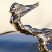 Flying Lady Hood Ornament Poster