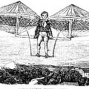 Flying Machine, 1807 Poster