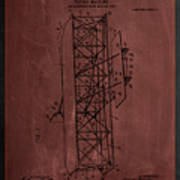 Flying Machine Patent Drawing  Poster