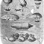 Flying Machines, 1856 Poster