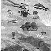 Flying Machines, 1864 Poster