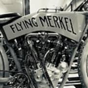 Flying Merkel Poster