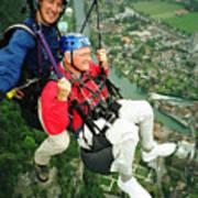 Flying Over Interlaken Poster