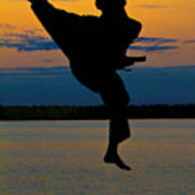 Flying Over Muskegon Lake Poster