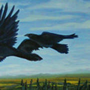 Flying Over The Tanana Flats Poster by Amy Reisland-Speer