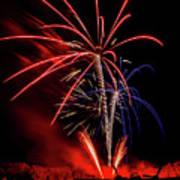 Flying Prom Fireworks Poster
