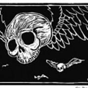 Flying Skulls Poster