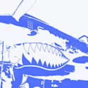 Flying Tiger Blue Poster
