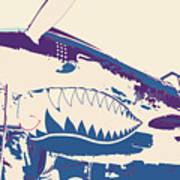 Flying Tiger Blue Purple  Poster