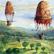 Flyingballons Poster