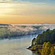 Fog Over Savannah River Poster