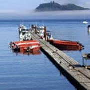 Foggy Dock Poster