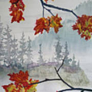 Foggy Fall Poster