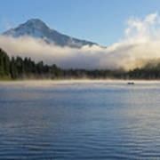 Foggy Morning At Trillium Lake Poster